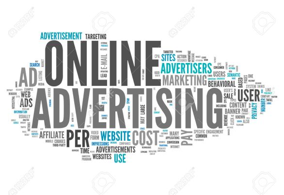 Word Cloud with Online Advertising related tags